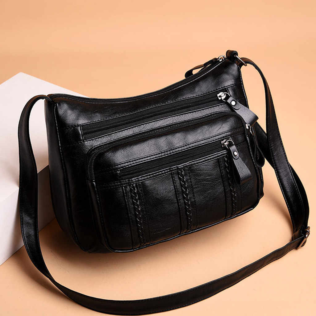 Wanita Tas Tangan Merek Terkenal Wanita Messenger Bag 2019 Fashion Ritsleting PU Kulit Wanita Crossbody Bahu Tas Bolsos Mujer