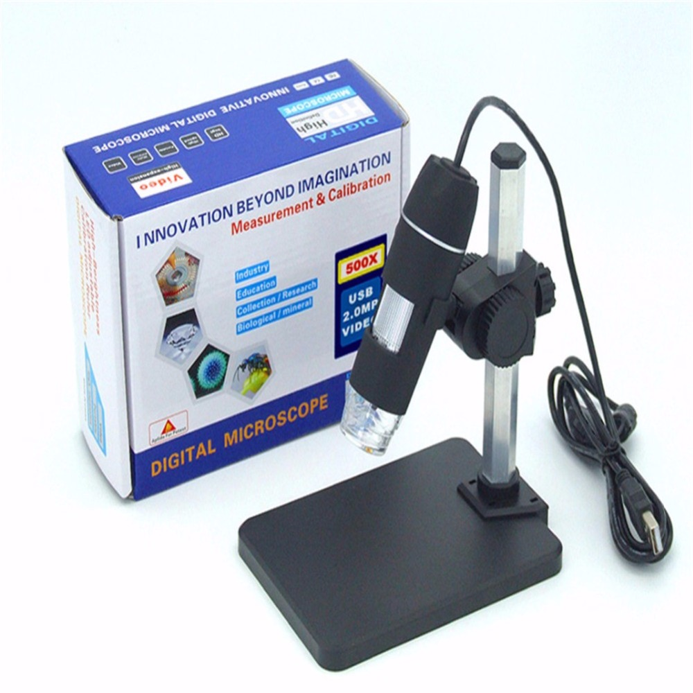 Practical Electronics USB 8 LED Digital Camera Microscope Endoscope Magnifier Magnification Measure обложка для паспорта женская krystall цвет синий 0 466 св