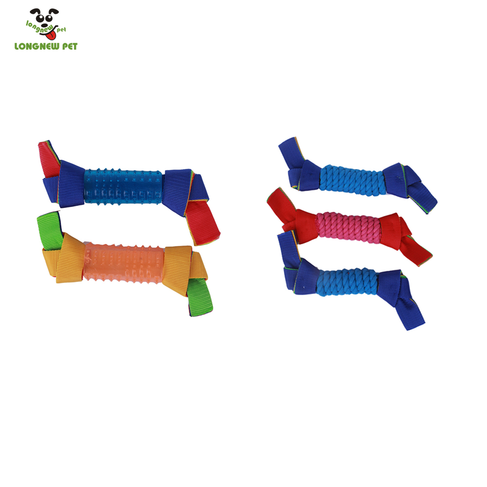 Rope Or Rubber And Oxford Cloth Dog Toys For Puppy Chewing Clean Teeth Outdoor Play