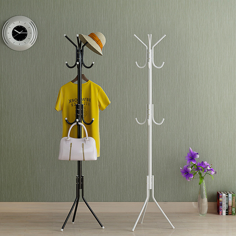 Floor Standing Coat Racks Bedroom Clothes Hanger Living Room Clothing Hats Bags Hanging Storage Shelf Rack Home Furniture 32CM цена