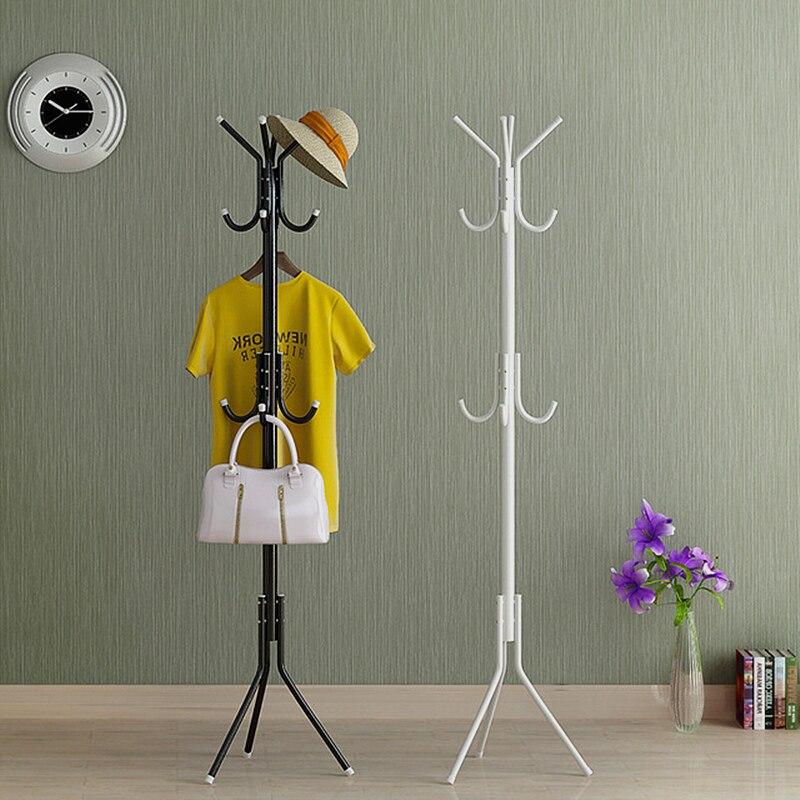 Floor Standing Coat Racks Bedroom Clothes Hanger Living Room Clothing Hats Bags Hanging Storage Shelf Rack Home Furniture 32CM