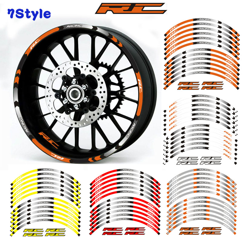 Motorcycles Reflective Sticker Motorcycles Wheel Stickers Reflective Rim Moto Stripe Tape For KTM RC 125 200 390 690