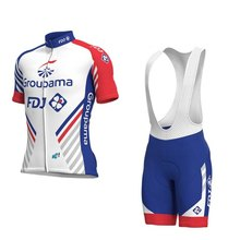 цены 2019 Pro team groupama FDJ cycling jerseys set Bicycle maillot breathable Ropa Ciclismo MTB Short sleeve bike cloth 3D GEL