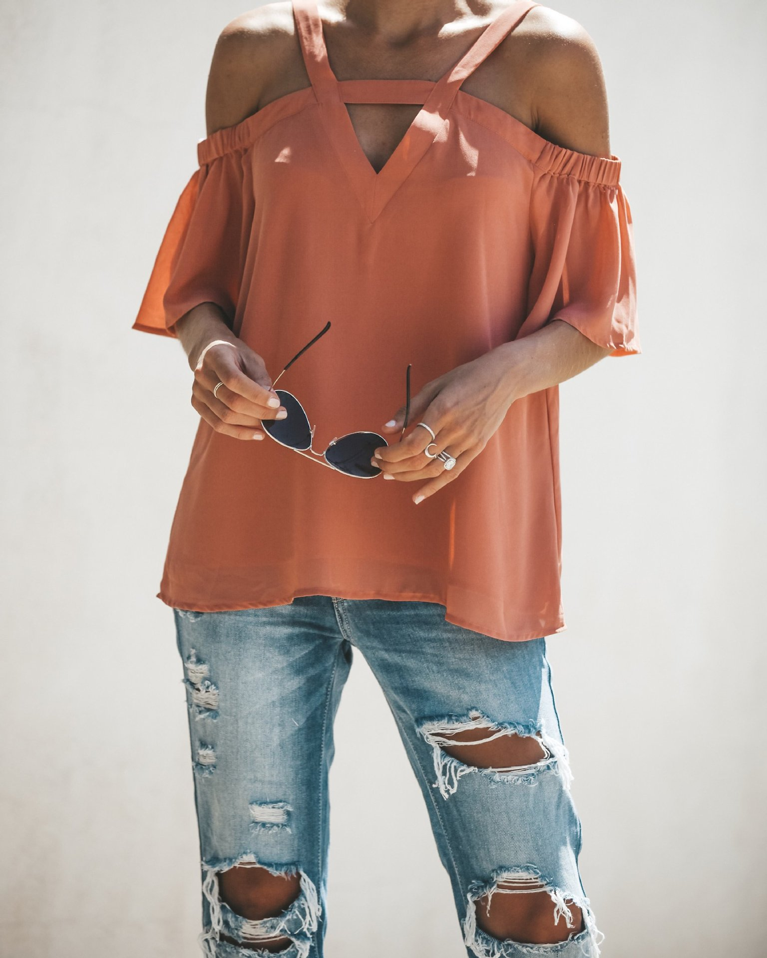 women blouse fashion female ladies clothing v-neck hollow out solid casual womens top women clothes 2018 boho shirt top