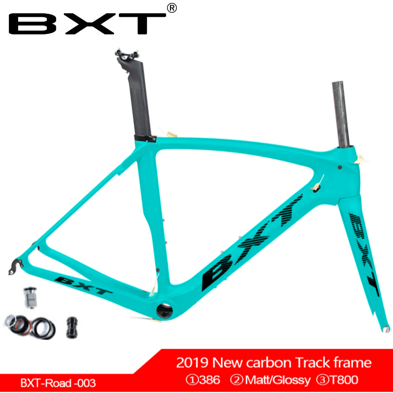 2019 BXT Brand T800 Carbon Road Bicycle Frame V Brake Carbon Road Cycling Frame Bike Frame+ Fork + Seat Tube + Seat Tube Clamp