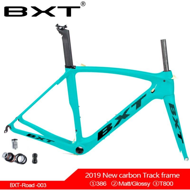 2019 BXT marque T800 cadre de vélo de route en carbone V frein cadre de vélo de route en carbone cadre de vélo + fourche + tube de siège + pince de tube de siège