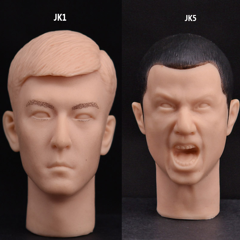 Action & Toy Figures Clever Custom 1/6 Scale Accessories Male/man Head Sculpt For Hot Toys Body Carving Jk5 Roar/jk1 White Mold For 12 Inch Phicen Sideshow