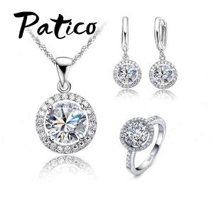 PATICO Women Wedding Ring 925 Sterling Silver Crystal