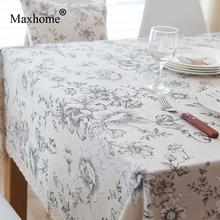 Retro American Cotton Linen Table Cloth Luxury Flowers Table Cloths For  Wedding White Lace Tablecloth Christmas Tablecloths