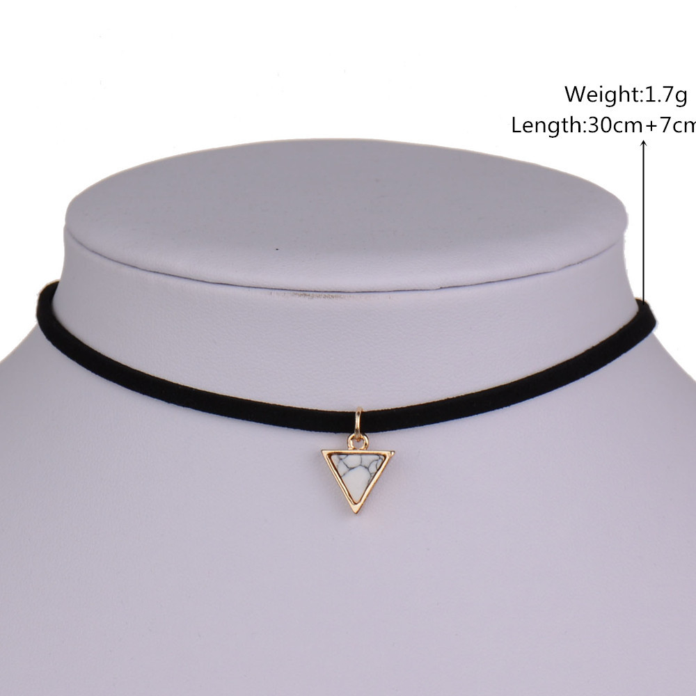 KStyle Store Triangle Choker Necklace Chain