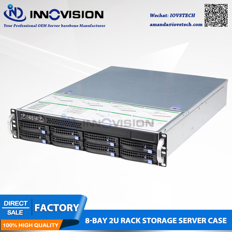 Depth 56CM Compact Super Huge Storage 2U560 8 HDD Plate Hot Plug Rack Server Case 8bays Hotswap 2U Chassis L560mm