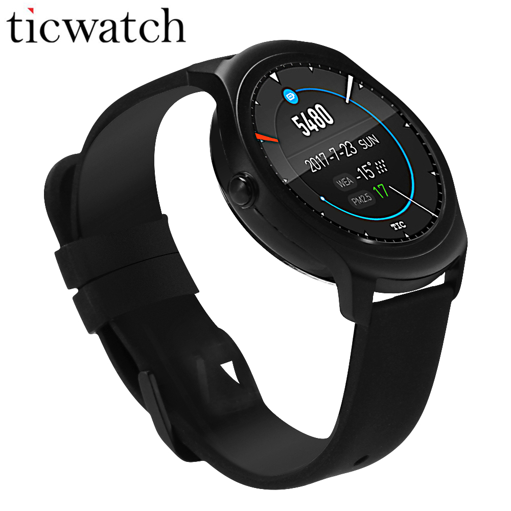 Ticwatch 2 GPS Smart Watch Bluetooth 4.1 MT2601 Heart Rate Monitor Smartwatch for iOS & Android IP65 Waterproof wearable devices new curren x4 smart phone watch heart rate step counter stopwatch ultra thin bluetooth wearable devices sport for ios android