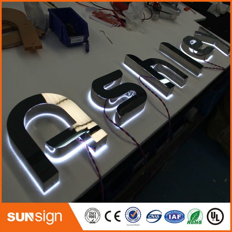Outdoor Advertising Backlit Illuminated Led Letter Lights Sign