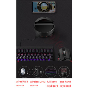 Image 4 - Portable PUBG Mobile Converter Bluetooth 5.0 Controller Keyboard Mouse Converter for iOS Android Gamepad PUBG Accessories