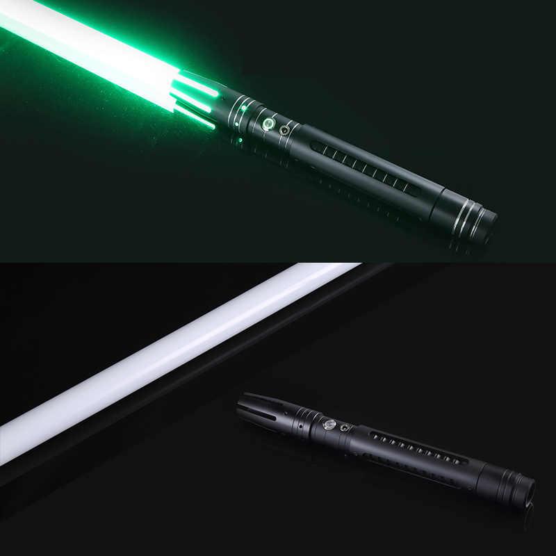 Lightsaber 12 Perubahan Warna Pedang Logam Dilepas RGB, Laser Cosplay Duel Mainan Berkedip untuk Anak-anak Hadiah Kreatif Lampu Mainan