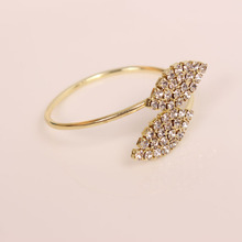 10PCS metal stainless steel two-leaf napkin ring wedding party accessories