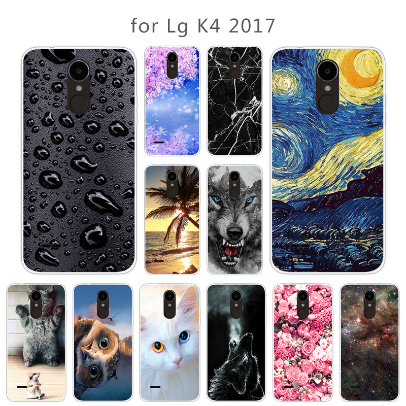 Soft Silicone Cover For LG K5 K4 K9 K8 2018 2017 EU Version K10 LTE Cover Soft TPU Passion Phone Case For LG V40 ThinQ G4 G5 Bag