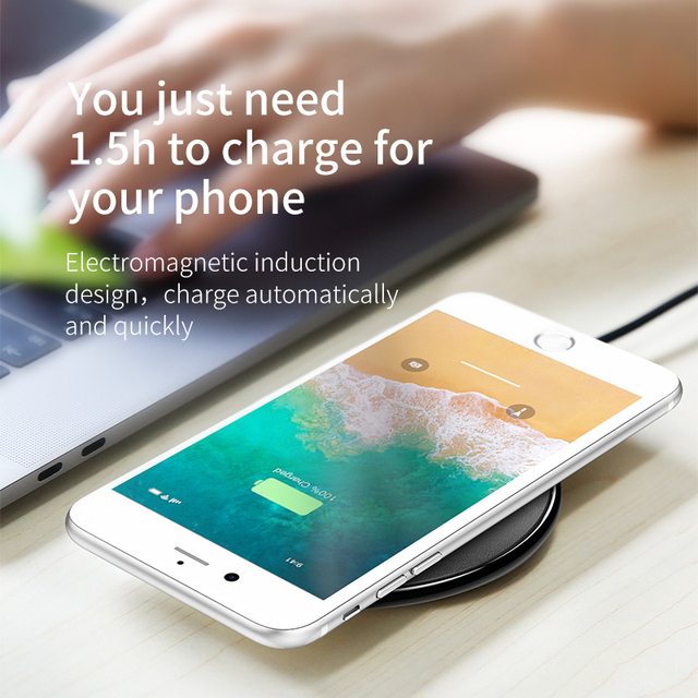 Baseus Leather Wireless Charger For iPhone 11 Pro Xs Max Xr X 8 Plus Desktop Wireless