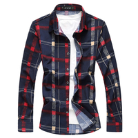 Cigna Large Size S 7XL Long Sleeved Shirt Men S Casual Men Plaid Shirts Loose Comfortable