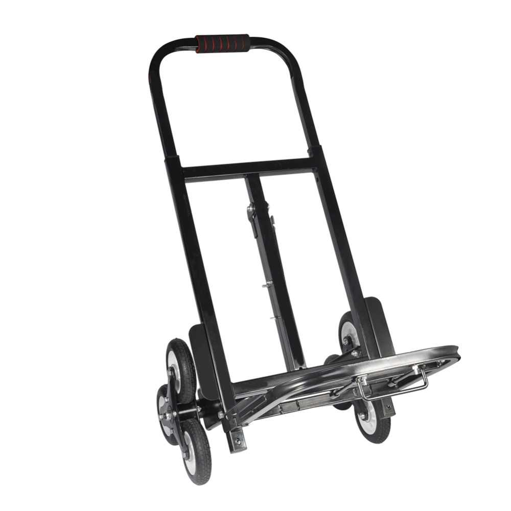 Stair Climber Hand Truck SOLID RUBBER TIRES 440LBS Barrow