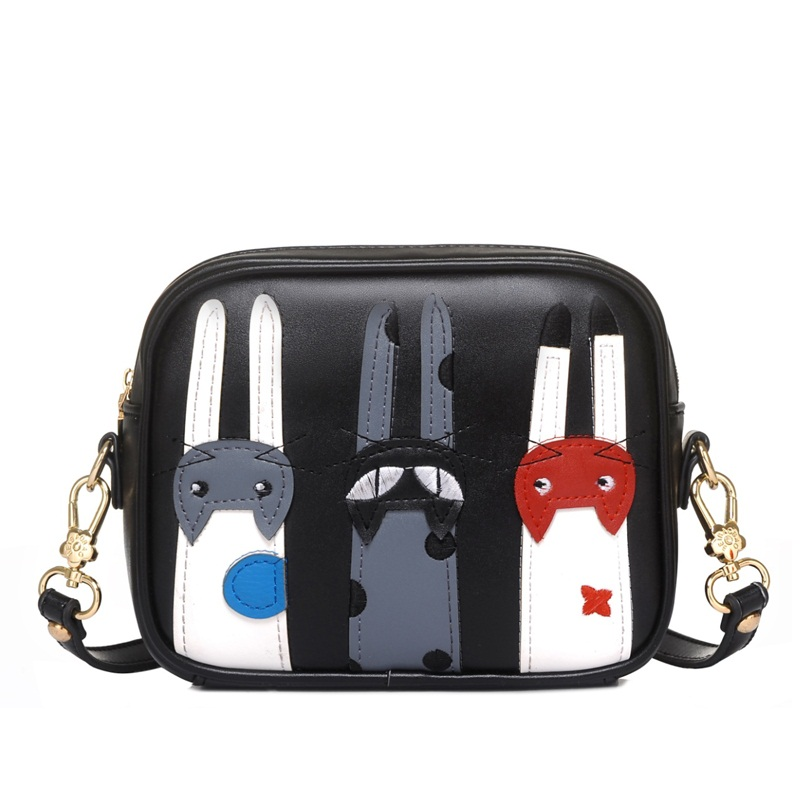 2016Female Mini Messenger bags Circle Crossbody Cut Cat bags Women s Handbag Round Shoulder Bags Party