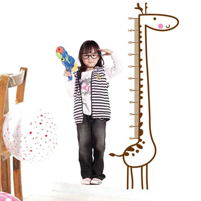 New Lovely Giraffe Kids Growth Chart Wall Paper Height Measure Kids