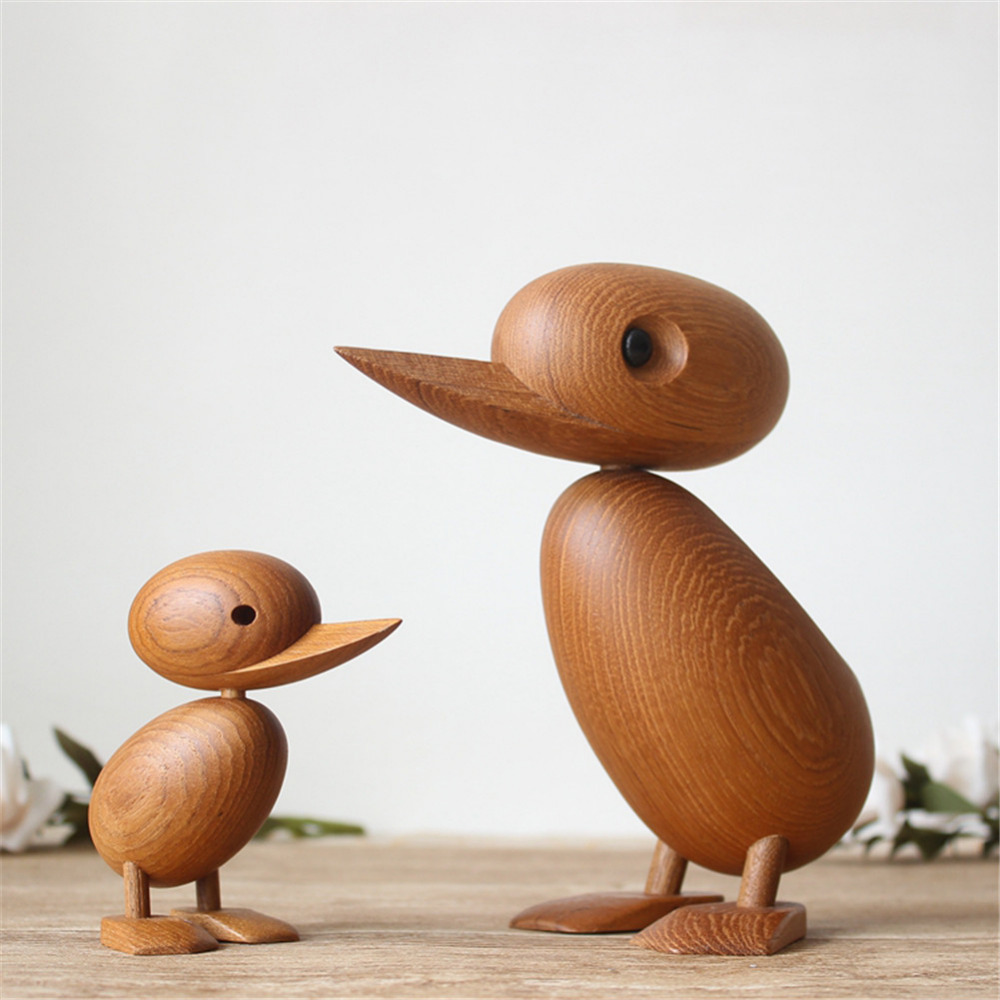 Innovative Wooden Bird Statues Decorations European Fashion Home Exquisite Art Home Decor Craft Figurine Toy Gift 2 Size