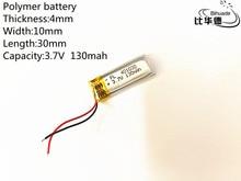 5pcs 3.7V,130mAH,401030 PLIB; polymer lithium ion / Li-ion battery for GPS,mp3,mp4,mp5,dvd,bluetooth,model toy mobile bluetooth