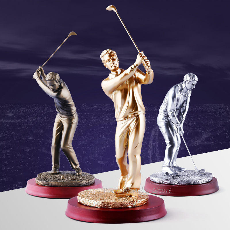 Exquisite Golfer statue Home decorations Lifelike golf action figures Decoration Business gifts