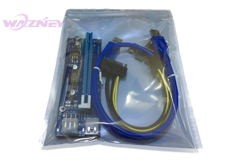50pcs VER 006C PCI E PCI E Express 1X to 16X Riser Card +USB 3.0 ...