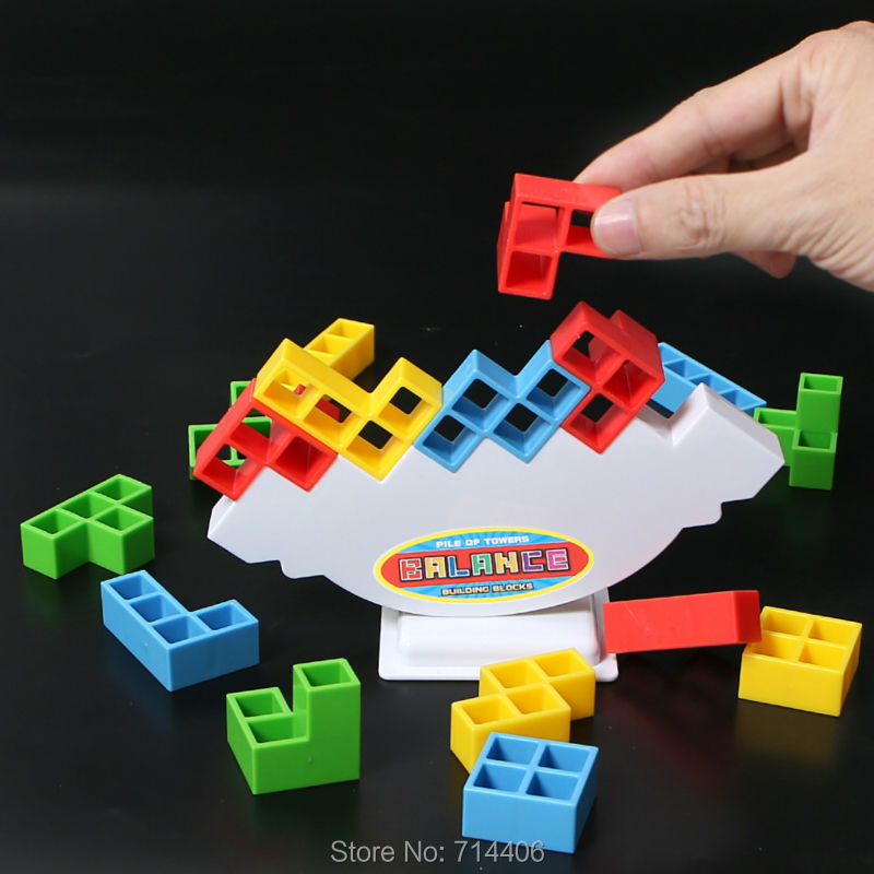 balance game toy building blocks push the tower higher,anti