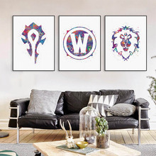 2016 New Moive Poster World Of Warcraft Wall Stickers For Living Setting Rooms Decals Home Decor