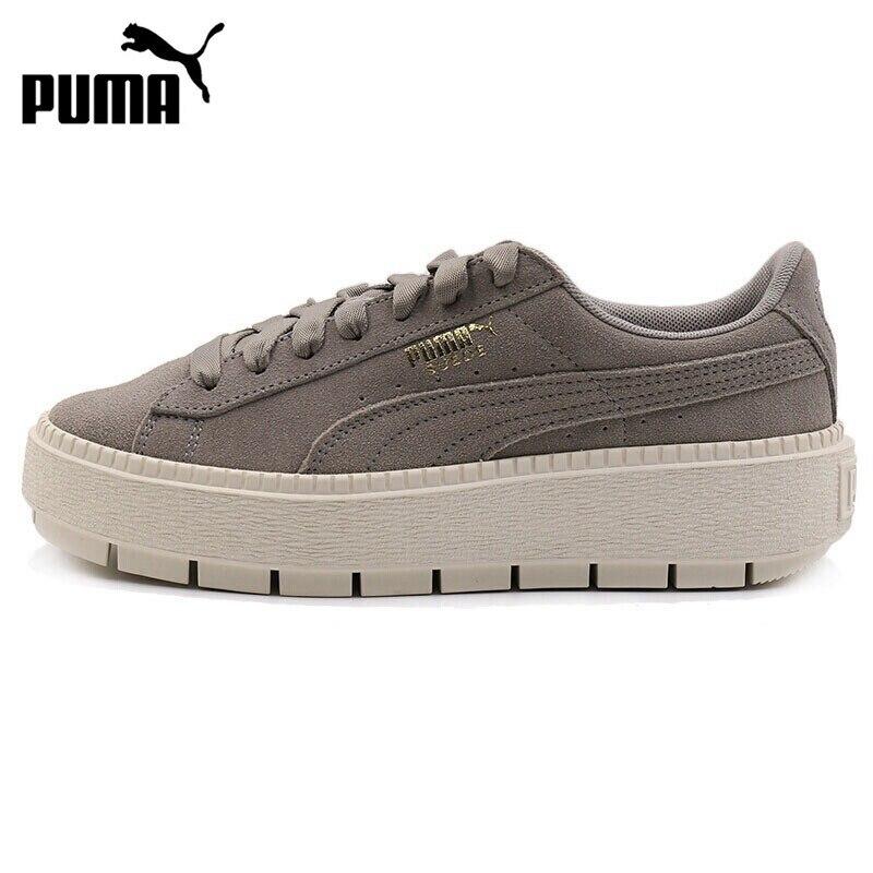 Nouveauté originale 2018 PUMA daim plateforme Trace chaussures de skate femme baskets