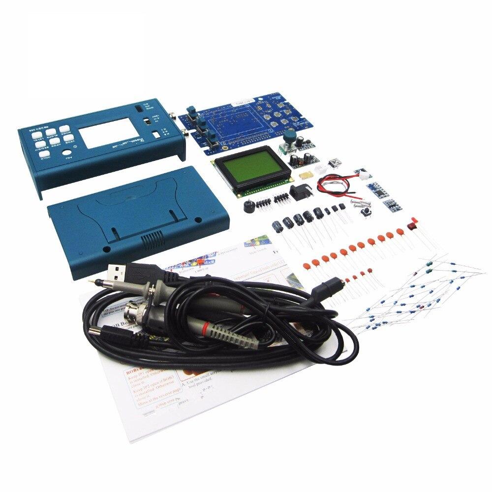 DSO068 20MHz Mini Digital Storage Oscilloscope DIY F Version Kits Digital Screen Electronic Teaching Practice Production Suit mastering digital audio production