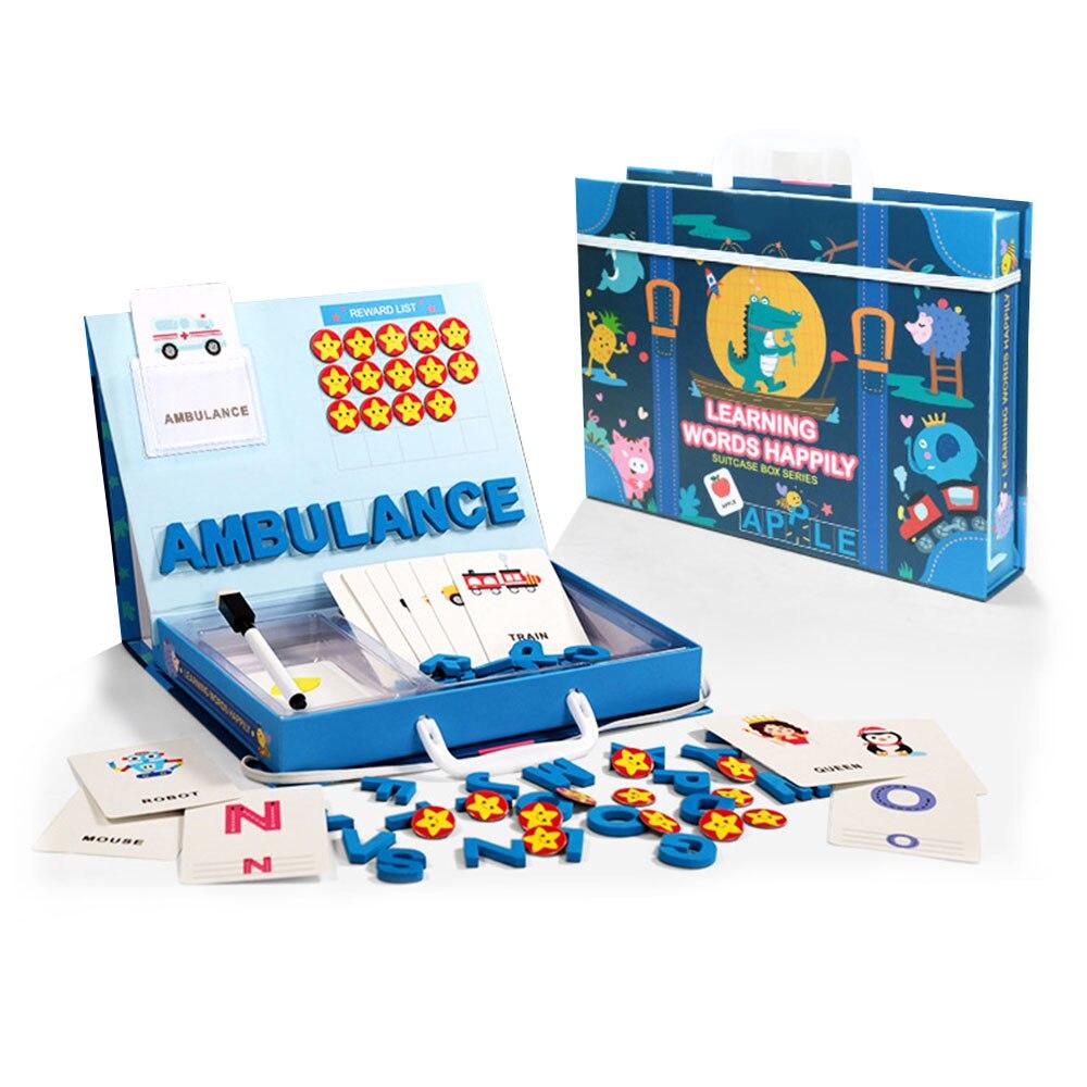 Amusant jouets d'apprentissage précoce jouets pour enfants lettres Alphabet Figure orthographe jeux cartes anglais mot Puzzle jeu éducatif