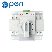 2P 63A 230V MCB type Dual Power Automatic transfer switch ATS 4p 63a 220v 380v mcb type white color dual power automatic transfer switch ats