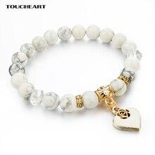 Здесь можно купить   Bijoux Heart Charm Bracelets Bangles White Natural Stone Bracelet For Women Pulseiras Femininas Boho Jewelry Gift SBR150344 Fashion Jewelry