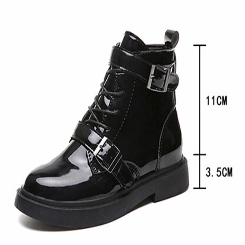 ... MUQGEW winter shoes 2018 Vintage Belt Buckles Women Boots Autumn Winter  Anti-Slip Middle Heel ... 828f23bd0b00