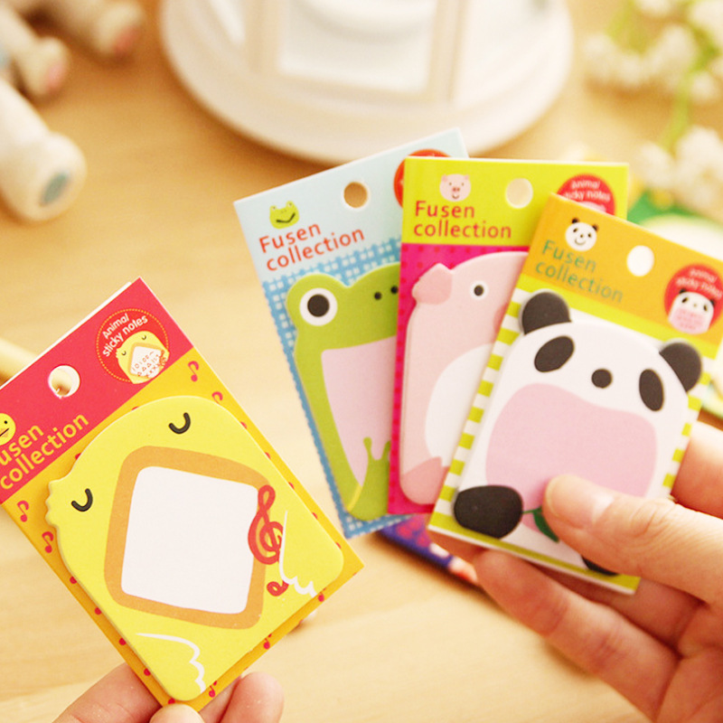 2018 NEW Office Writing Cartoon Cute Animal Post It Bookmark Memo Marker Point Flags Sticky Notes label Decoration