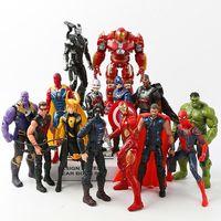 Infinity War Avengers 3 civil war Hulk Iron Man Spiderman Thanos Vision Captain America Thor Loki PVC Action Figure Set Toys