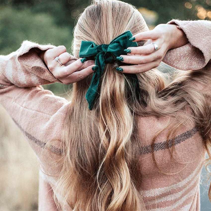 M MISM 12 Color terciopelo Scrunchies lazos bandas elásticas para el cabello para mujeres dulces niñas accesorios para el cabello goma para cola de caballo los titulares