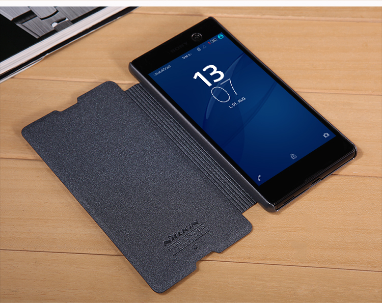 the best attitude 0433c 2ee70 US $8.09 10% OFF|Nillkin Smart Flip Cover for Sony Xperia M5 Dual E5633  Leather Case Sleep Wake Protective Shell E5603 E5653 Phone Cases In  Stock-in ...