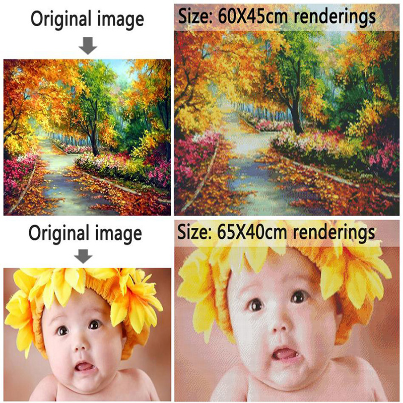 5D DIY Diamond Painting Cross stitch Colored Flowers Crystal Needlework Full Square Embroidery Paintings Mosaic Gifts in Diamond Painting Cross Stitch from Home Garden