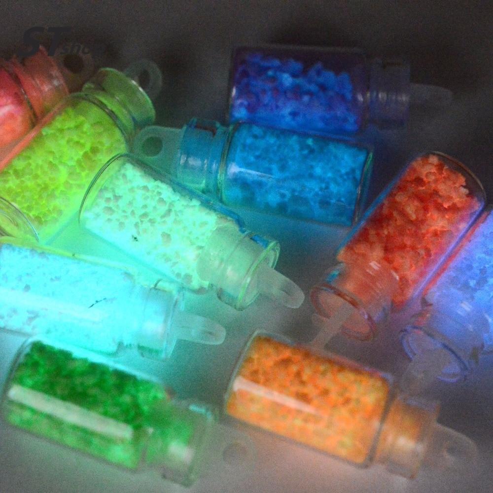 Buy 10 Bottles Glow In Dark Resin 3d Nail