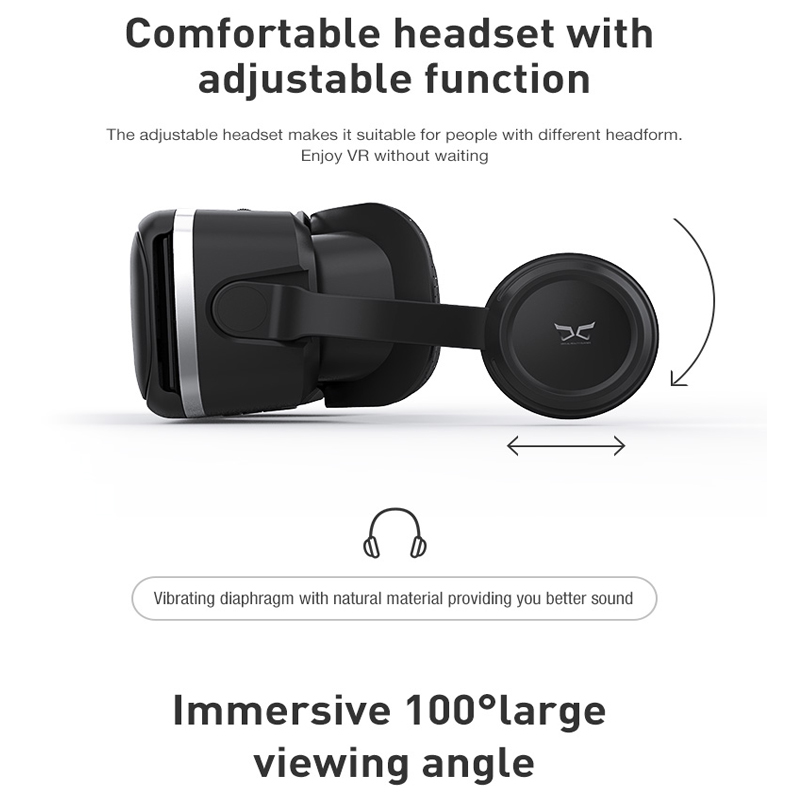 Original font b Virtual b font font b Reality b font VR Glasses Headset Stereo Leather