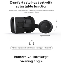 Original Virtual Reality VR Glasses Headset Stereo Leather 3D Cardboard Helmet For 4.7 to 6 Inch Smart Phone By App Controller