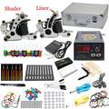 EE.UU. Despacho Superior Titulares Kits de Tatuaje 2 Ametralladoras 10 Color de tinta pigmentada de Energía Grip Agujas consejos Equipo Conjunto de la Fuente K004