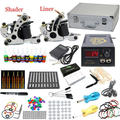 USA Dispatch Top Starters Tattoo Kits 2 Machine Guns  10 Color ink pigment Power Grip Needles tips Equipment Set Supply K004