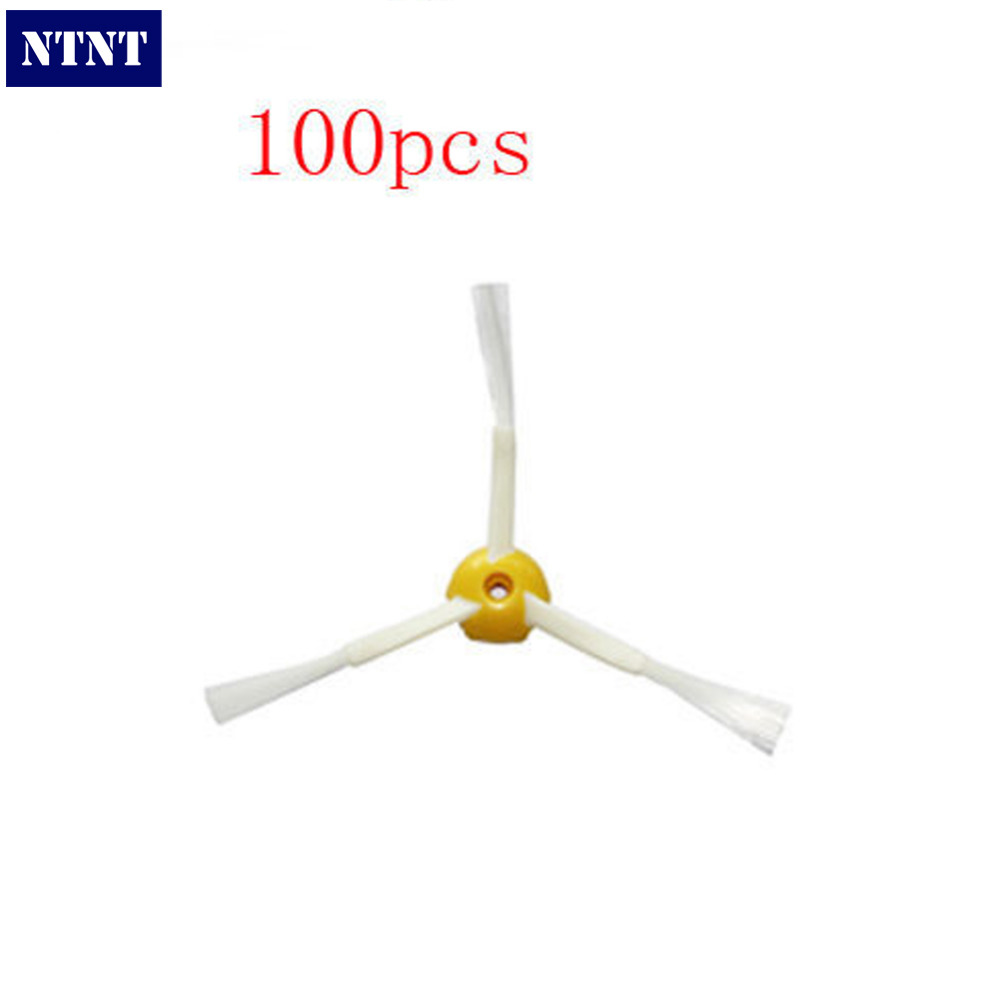 NTNT Free Post New 100x Side Brush 3-armed for iRobot Roomba 500 600 700 Series 550 560 630 650 760 ntnt free post new 5 pcs bags dust bag