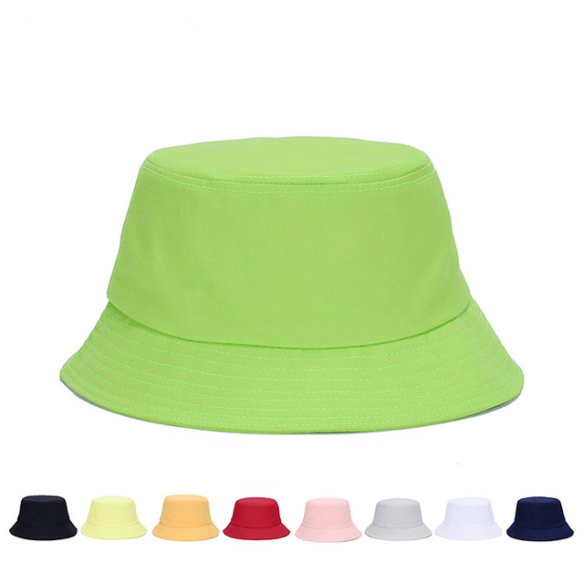 d6f4fca7618 2018 Hot Sale Unisex Bucket Hat Panama Women Simple Style Solid Color Sun  Hat men and women Summer Hats